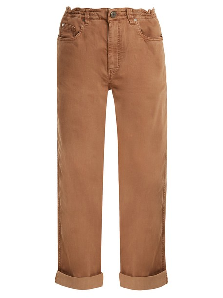 BRUNELLO CUCINELLI jeans boyfriend fit cotton camel