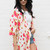 Soft Touch Floral Rose Print Kimono in Multi