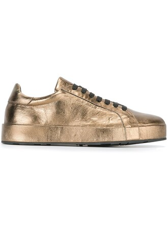 classic sneakers lace metallic shoes