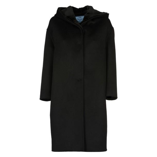Prada parka black coat