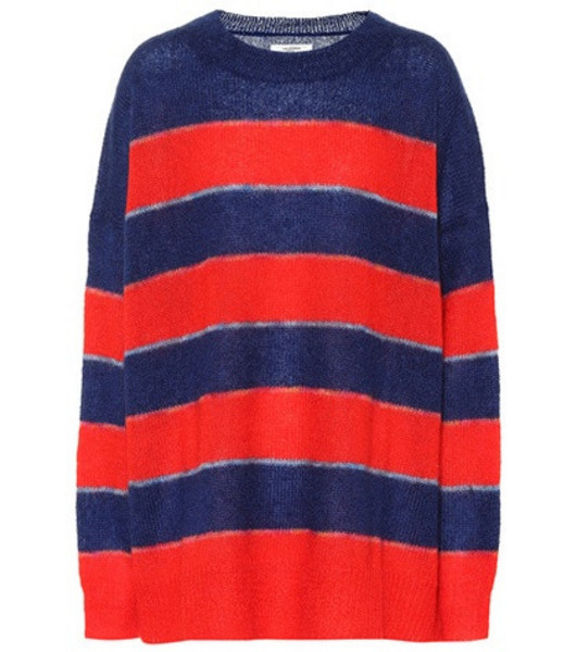 Isabel Marant, Étoile Reece striped mohair-blend sweater in red