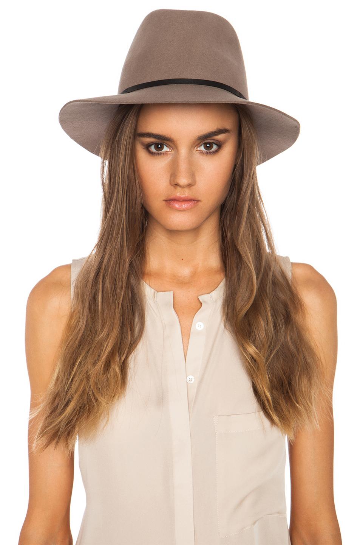 Janessa Leone|Lola Wool Felt Hat in Camel