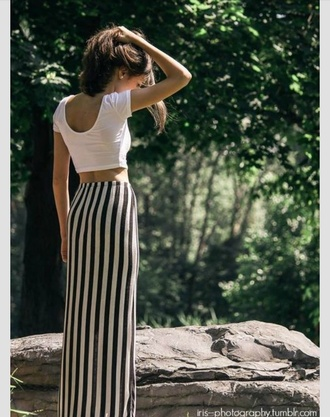 skirt vertical stripes maxi skirt