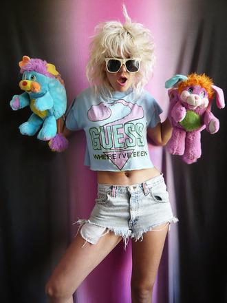 shirt 90s style 90s shirt vintage tumblr blue pink grunge pale pale grunge crop tops cropped