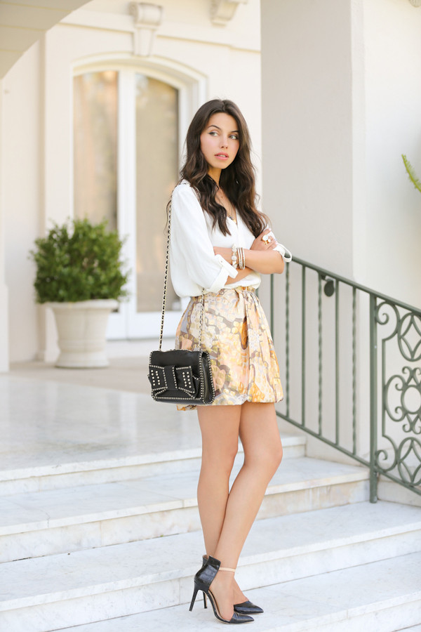 ASOS Skirt in Metallic Leather