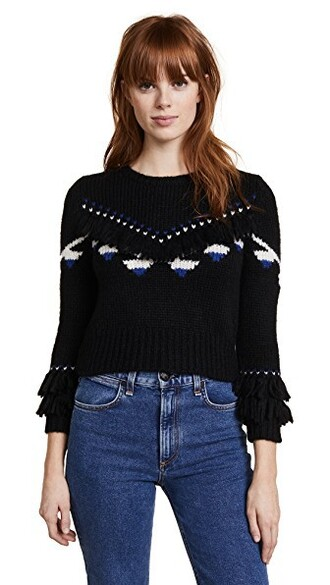 pullover cropped black sweater
