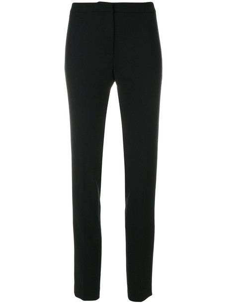 INCOTEX women spandex fit black wool pants