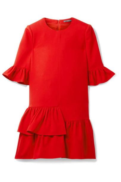 Alexander Mcqueen dress mini dress mini silk wool red