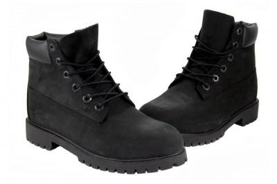 "Timberland 6"" Premium 12907 Black Nubuck Suede Boots Youth Women | eBay"