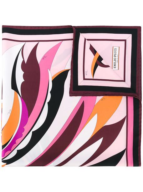 printed scarf women scarf silk pink