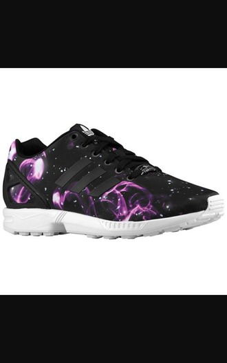 shoes adidas adidas zx flux purple black sneakers