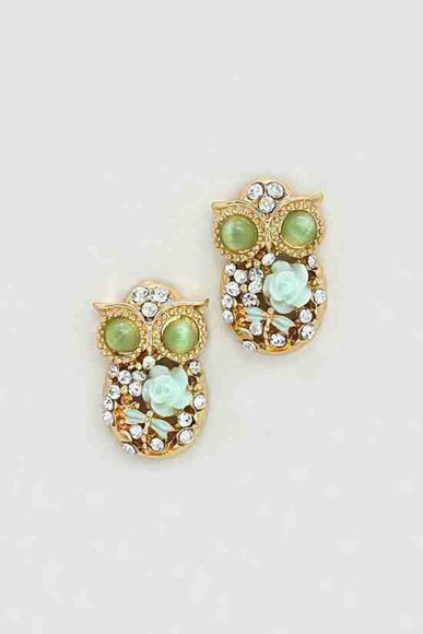 jewels owl earrings fashion