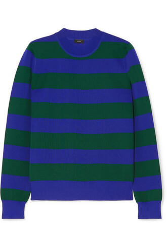 sweater knitted sweater navy