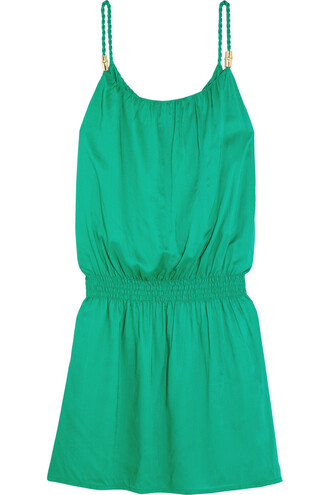 dress mini dress mini green