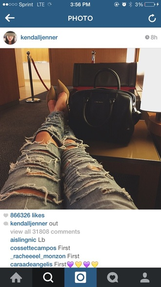 jeans kendall jenner ripped jeans