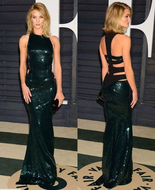 dress oscars 2015 gown rosie huntington-whiteley red carpet dress