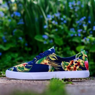 shoes floral huf sneakers