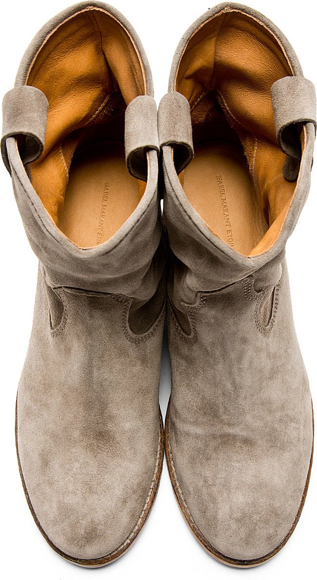 Isabel Marant - Grey Suede Crisi Boots
