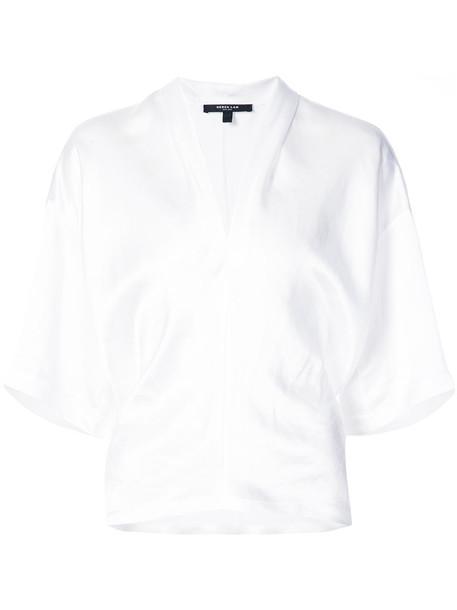 DEREK LAM kimono blouse women white top