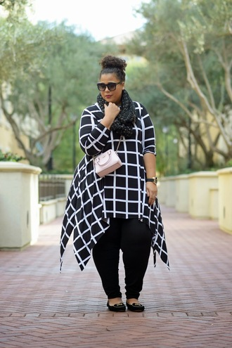 garner style blogger scarf curvy mini bag checkered loafers