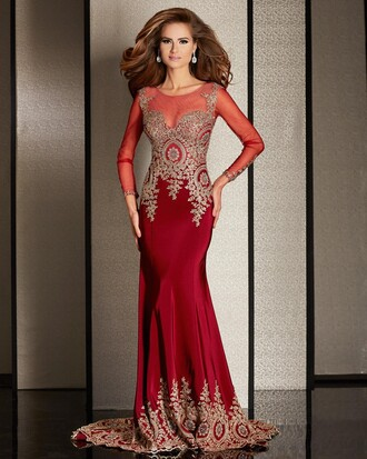 dress elegant prom dress evening dress charming design long prom dress mermaid prom dress red prom dress sequin prom dress long sleeve dress long sleeve prom dress long evening dress sexy evening dresses red prom gown 2016 long evening gown formal dress winter formal dress formal event outfit