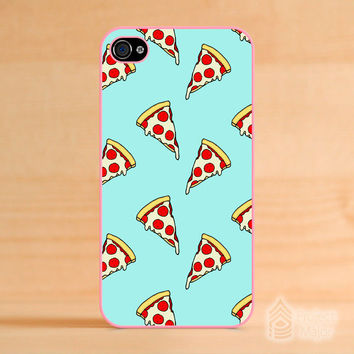Fits Apple iPhone 4/4s Pastel Pizza Slices Junk Food Cute Mint Green Case Cover on Wanelo