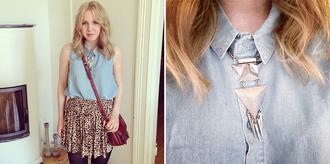 elenita skirt bag blouse
