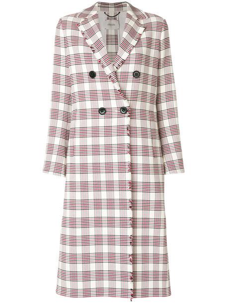 coat long women spandex cotton tartan