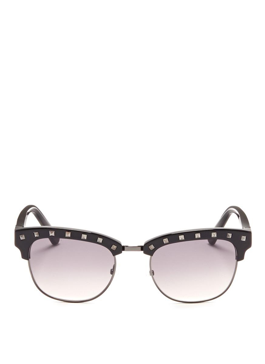 Rockstud brow bar sunglasses