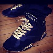 jordans,navy,gold,sneakers,mens sneakers,mens high top sneakers