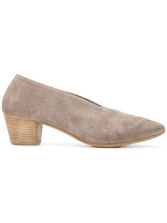 heel women pumps leather nude suede shoes