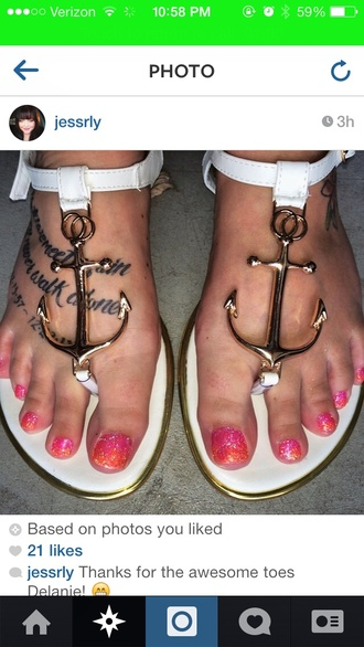 shoes sailor anchor sandals anchor