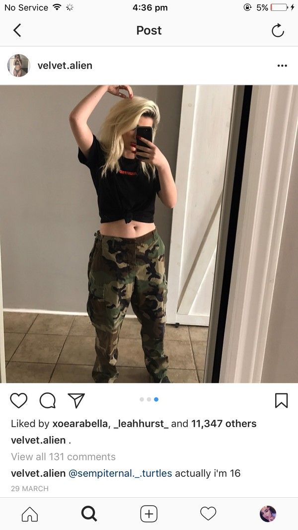 pants velvet alien madeline camouflage camouflage baggy pants camouflage military style