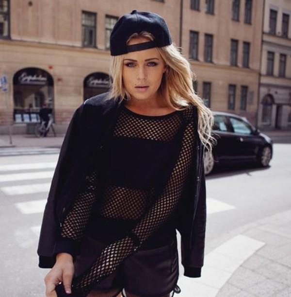 top black mesh t-shirt women tshirts girly