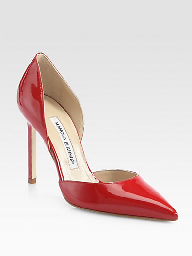 Manolo Blahnik - Tayler Patent Leather d'Orsay Pumps - Saks.com