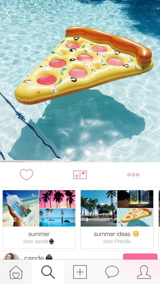 home accessory yellow pool accessory pizza