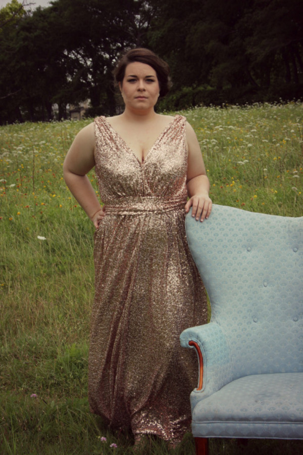 Plus size gold sequin party dress - Dress womans life