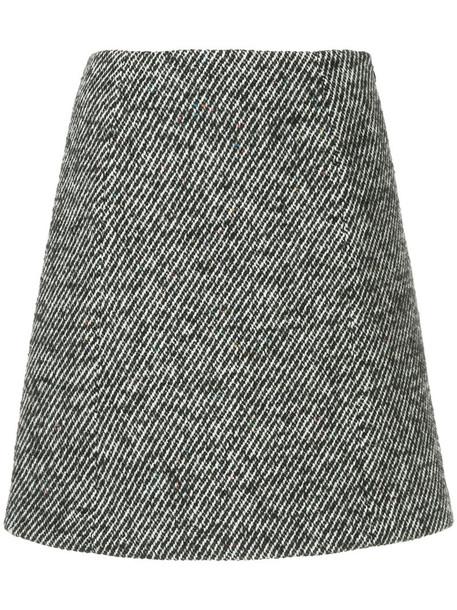 Ballsey skirt mini skirt mini women black wool knit pattern