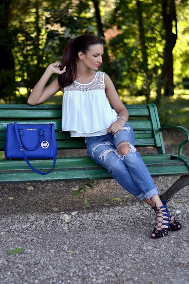 my silk fairytale bag shoes jeans blouse