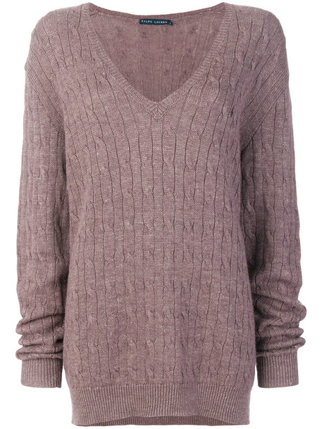 Ralph Lauren sweater women purple pink