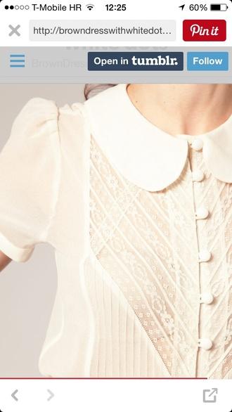 blouse white lace shortsleeve peter pan collar white blouse lace top peter pan collar peter pan collar blouse peterpan collar