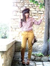 aude,yellow pants,pants