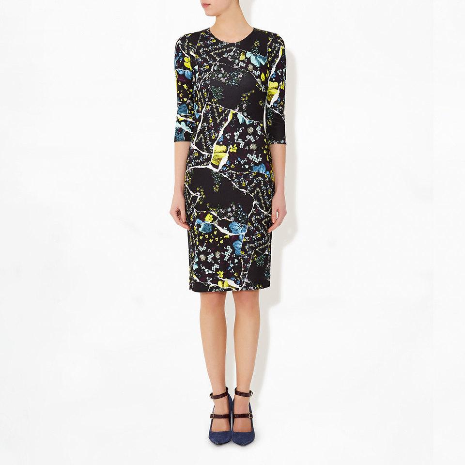 Allegra Dress Black Lilly Collage | Pre-Fall 2016 | Erdem.com Product Details