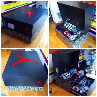 shoes home accessory air max jordans sneakers nike shoes storage box shoebox shoestorage air jordan jordan shoe box custom kickz nike cust custom sneakers nike air trainer solebrotha custom shoes jordan trunk