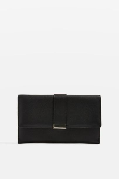 Topshop purse leather black bag