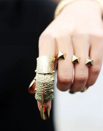 tumblr jewels ring knuckle ring armor ring