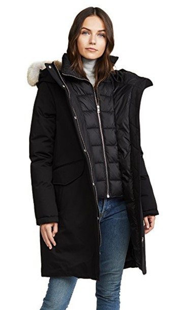 Soia & Kyo parka black coat