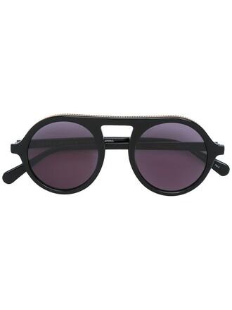 metal women sunglasses round sunglasses black