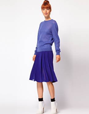 Blue Midi Skirt | ASOS