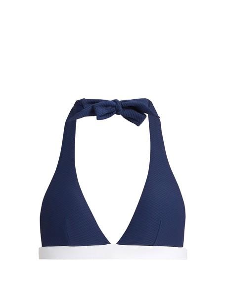 Heidi Klein bikini bikini top white blue swimwear